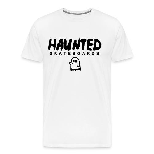 Haunted Skateboards Black Logo - Men's Premium T-Shirt