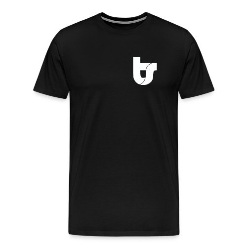 TS Logo & Hastag - White Logo - Men's Premium T-Shirt
