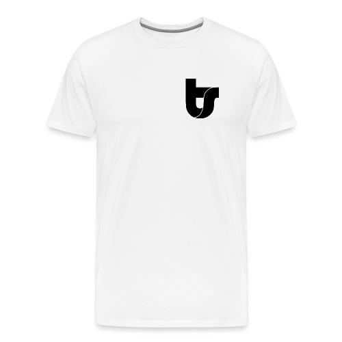 TS Logo & Hashtag - Black Logo - Men's Premium T-Shirt