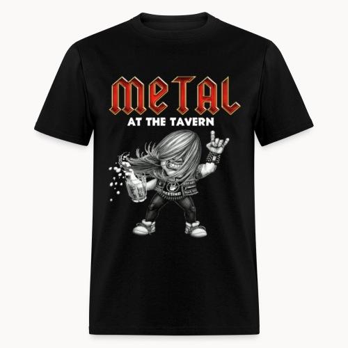 Metal At The Tavern Metalhead w/Devil horns BLACK - Men's T-Shirt