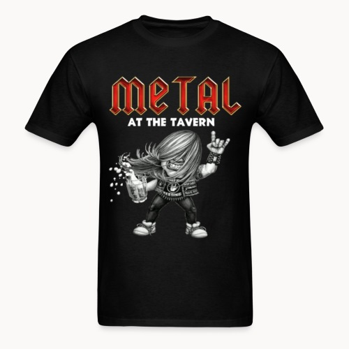 Metal At The Tavern Metalhead w/Devil horns BLACK - Men's T-Shirt