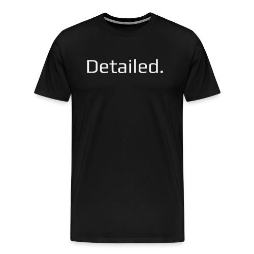 Detailed. Crew Neck T-Shirt - White Logo - Men's Premium T-Shirt