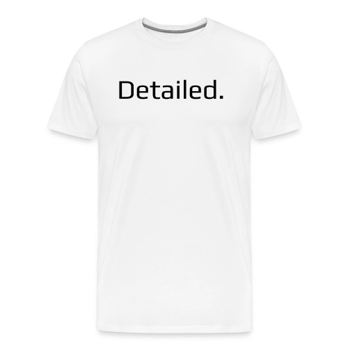 Detailed. Crew Neck T-Shirt - Black Logo - Men's Premium T-Shirt