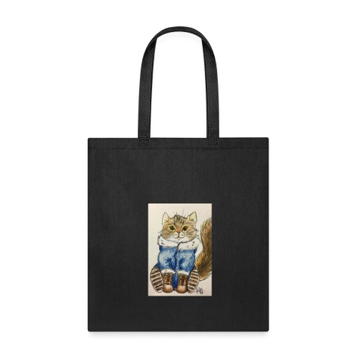 Siberian Cat Ready for Winter - Tote Bag