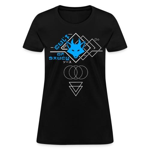 Cult of Saucy - Cyberpunk Womens Blue - Women's T-Shirt
