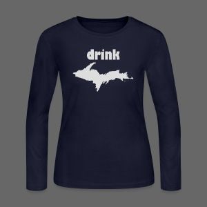 Drink U.P. - Women's Long Sleeve Jersey T-Shirt