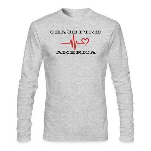 CEASE FIRE AMERICA - Men's Long Sleeve T-Shirt by Next Level