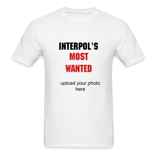 interpol's most wanted - Men's T-Shirt