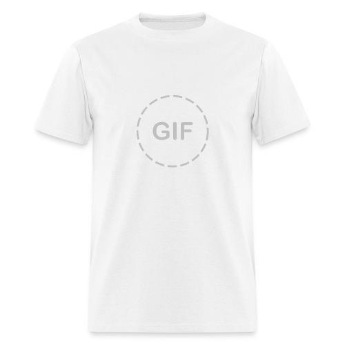 Animate Me (Gray on White) - Men's T-Shirt