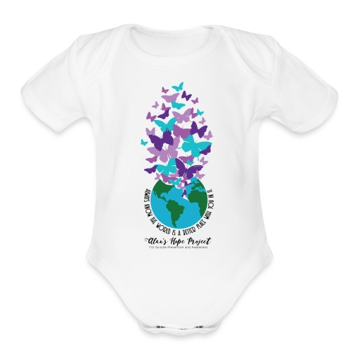 Alan's Hope Project | Baby   - Organic Short Sleeve Baby Bodysuit