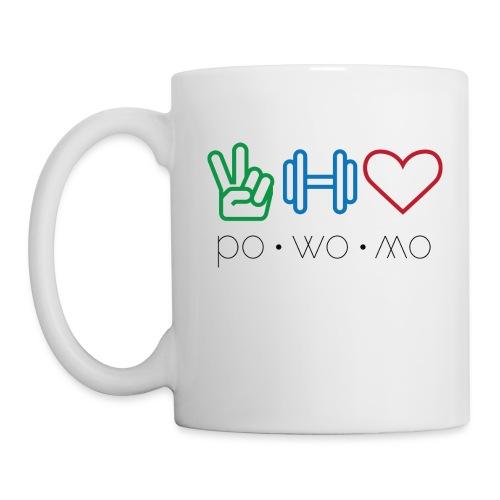 powomo logo coffee mug left handed - Coffee/Tea Mug