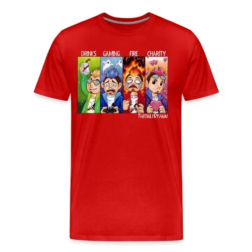 The Only Comic Pillars White (M) - Men's Premium T-Shirt