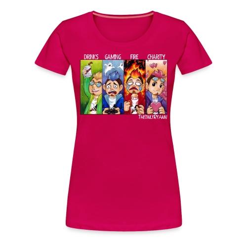 The Only Comic Pillars White (W) - Women's Premium T-Shirt
