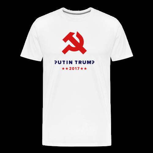 Mens White T-shirt - Men's Premium T-Shirt