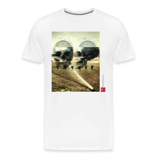 Skullz (white) t-shirt - Men's Premium T-Shirt