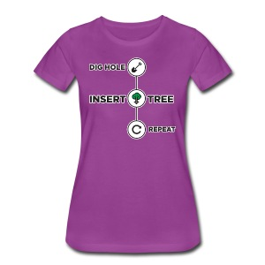 Dig Hole, Insert Tree, Repeat -Premium Tee - Women's Premium T-Shirt