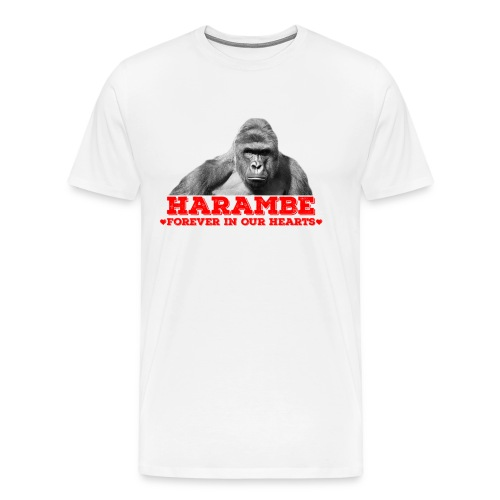 Harambe - Forever In Our Hearts  - Men's Premium T-Shirt