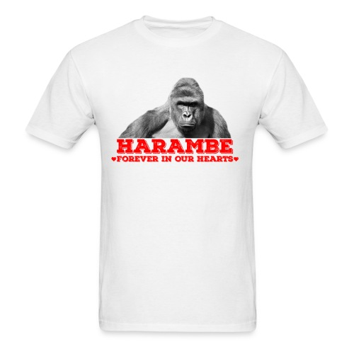 Harambe - Forever In Our Hearts  - Men's T-Shirt