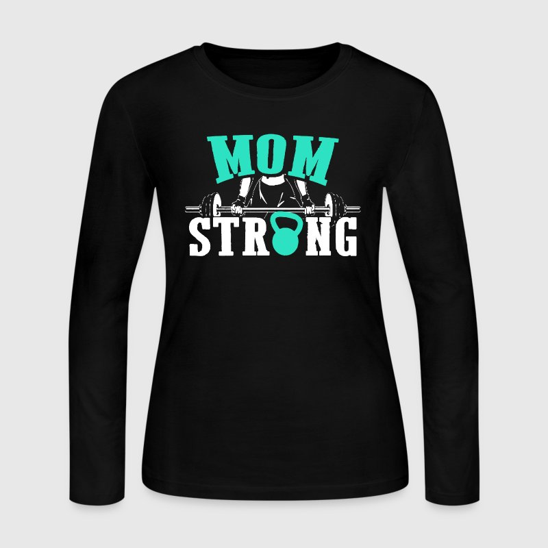 Gym Lover - Mom Strong - Women's Long Sleeve Jersey T-Shirt