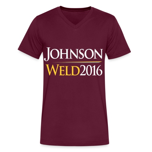 Johnson/Weld VNeck TShirt - Men's V-Neck T-Shirt by Canvas