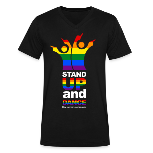 Stand Up and Dance - V-Neck T-shirt - Black - Men's V-Neck T-Shirt by Canvas