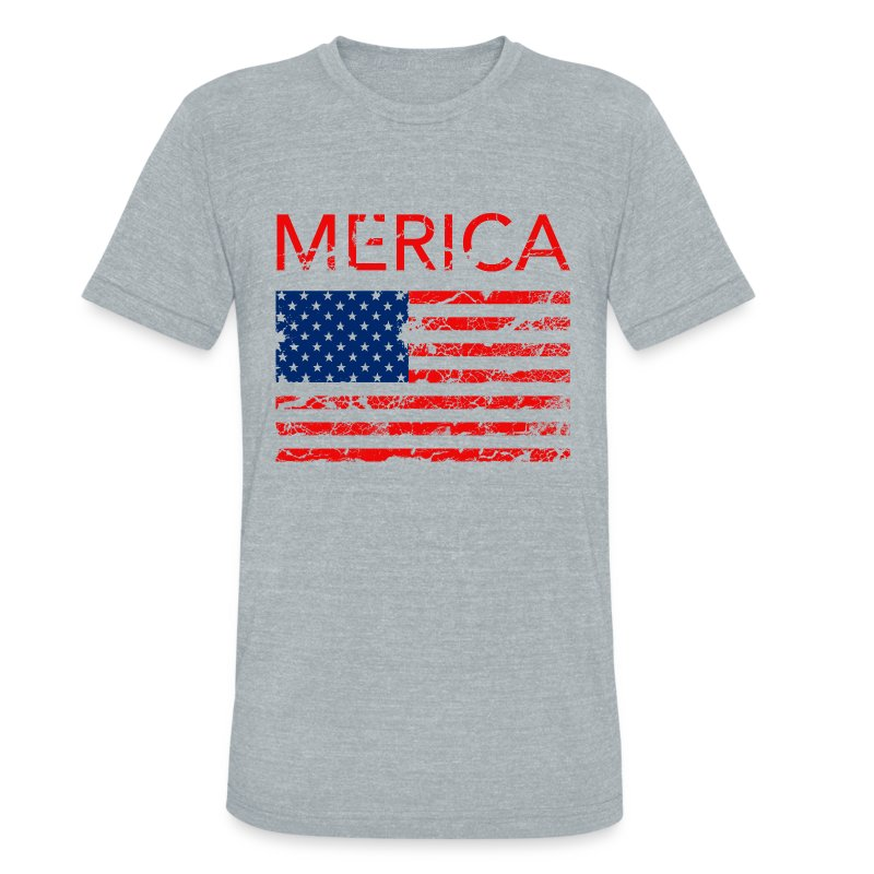 Merica Women's V-neck tee - Unisex Tri-Blend T-Shirt by American Apparel