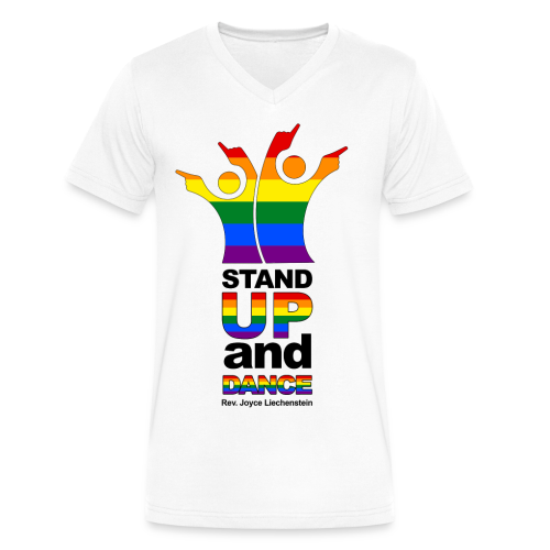 Stand Up and Dance - V-Neck T-Shirt - White - Men's V-Neck T-Shirt by Canvas