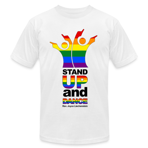 Stand Up and Dance - Premium American Apparel Shirt - White - Men's Fine Jersey T-Shirt