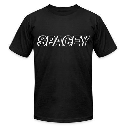 Men's Spacey T-Shirt (White Logo) - Men's Fine Jersey T-Shirt