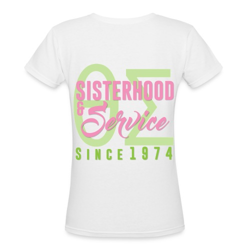 Sisterhood & Service - Women's V-Neck T-Shirt