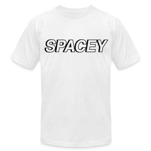 Men's Spacey T-Shirt (Black Logo) - Men's Fine Jersey T-Shirt