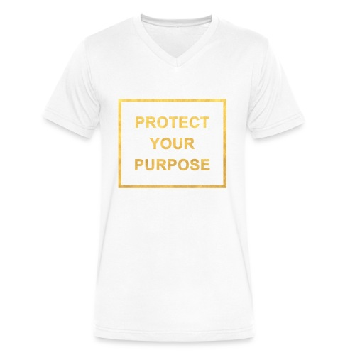 Protect Your Purpose Men's V-neck White - Men's V-Neck T-Shirt by Canvas