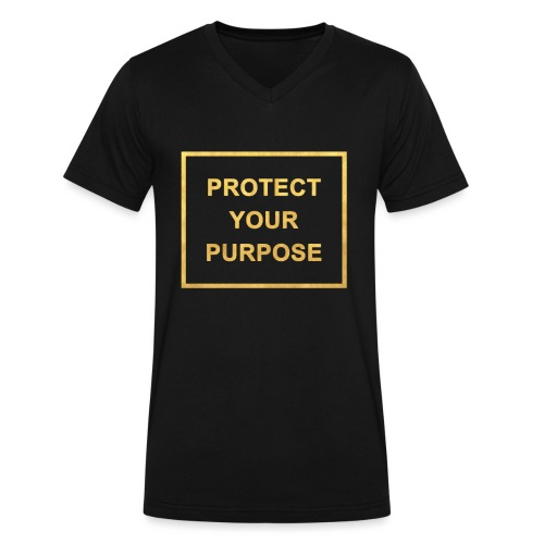 Protect Your Purpose Men's V-neck Black - Men's V-Neck T-Shirt by Canvas