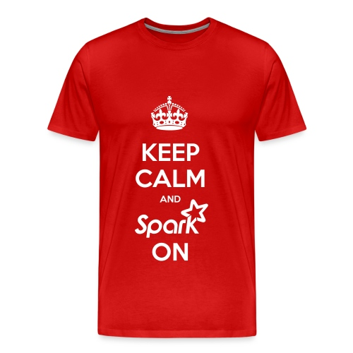 Keep Calm and Spark On - (Unisex Premium) - Men's Premium T-Shirt