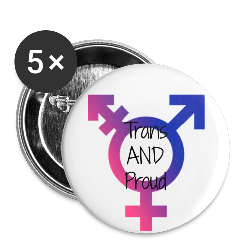 Trans* Pride Pin - Small Buttons