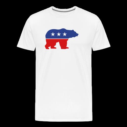 Mens Russian Bear T-shirt - Men's Premium T-Shirt