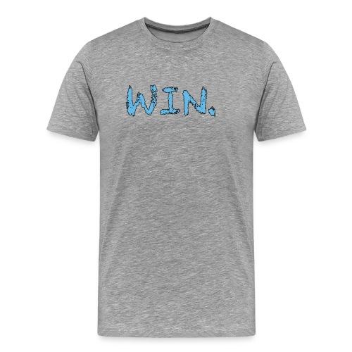 Grey/Tarheel Win Period T-Shirt - Men's Premium T-Shirt