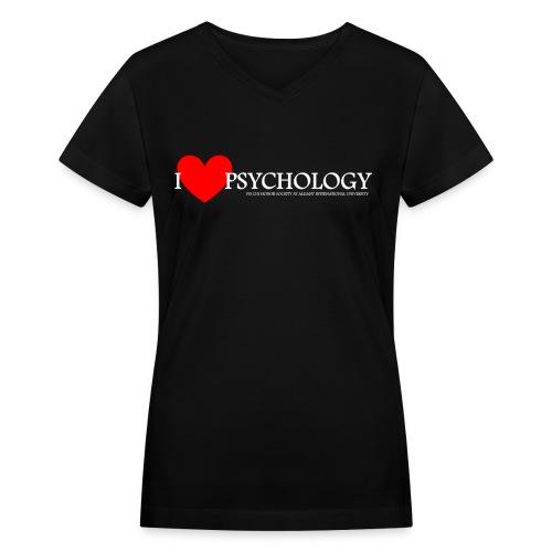 I Heart Psychology Women's Tee - Women's V-Neck T-Shirt