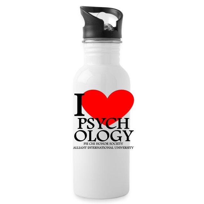 I Heart Psychology Water Bottle