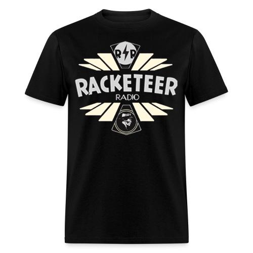 Mens Racketeer Radio Logo - Men's T-Shirt