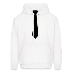 Men's Hoodie with black tie - Men's Hoodie