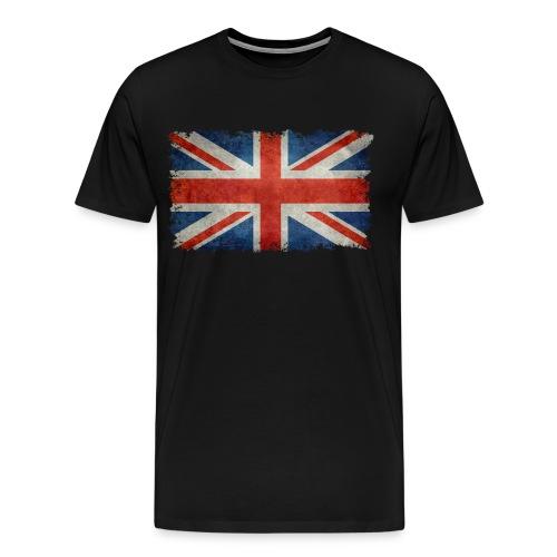 Union Jack flag vintage retro style - Men's Premium T-Shirt