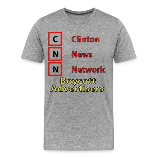 CNN Boycott - Men's Premium T-Shirt