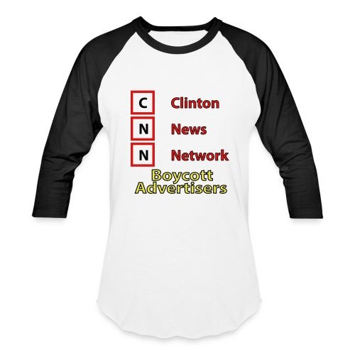 CNN Boycott - Baseball T-Shirt