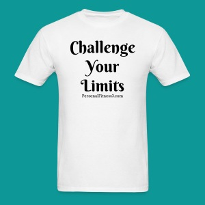 Challenge Your Limits Men's White Tee - Men's T-Shirt