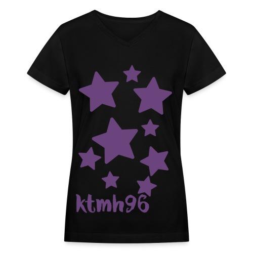 Women's Black v-neck - Women's V-Neck T-Shirt