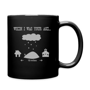 Uphill, both ways - coffee cup - Full Color Mug