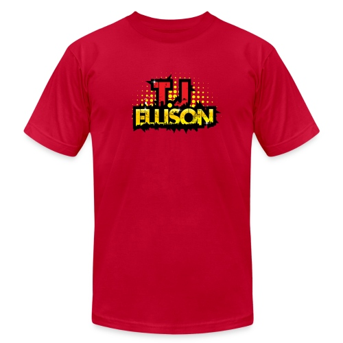 T.J. ELLISON® (Men) Logo T-Shirt (RED) - Men's Fine Jersey T-Shirt