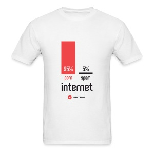 Vporn ' The internet is' - light - Men's T-Shirt