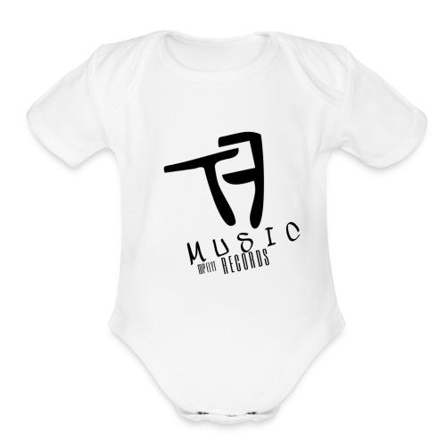 Top Flyt Music Short Sleeve One Piece for Babies - Organic Short Sleeve Baby Bodysuit
